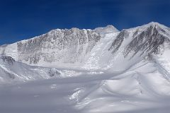 Mount Vinson Base Camp On Branscomb Glacier, Branscomb Peak, Mount Vinson, Silverstein Peak From Airplane